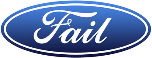 Ford Fails - New Logos For A Bad Economy