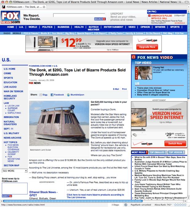 Fox News Crashes MethodShop's Web Server