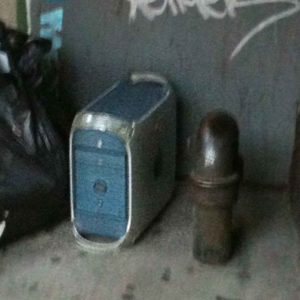 Power Mac G4 Discarded in Trash On New York City Street