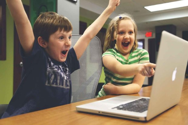Kids Playing Browser Games