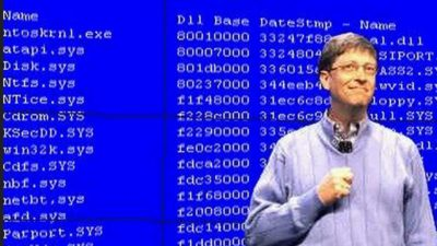 Bill Gates BSOD at CES 2005