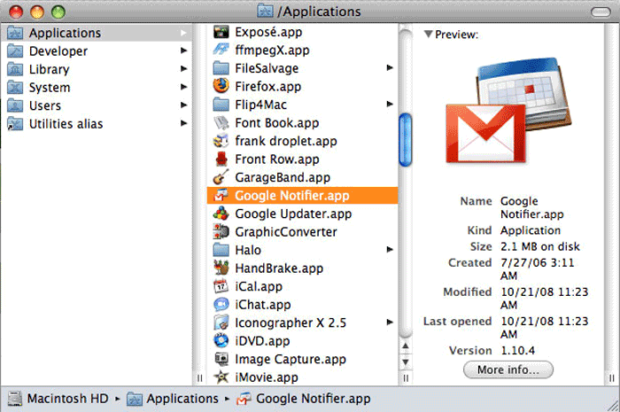 To Install Google Notifier Into Your Applications Folder, Just Drag And Drop It Into The Applications Folder.