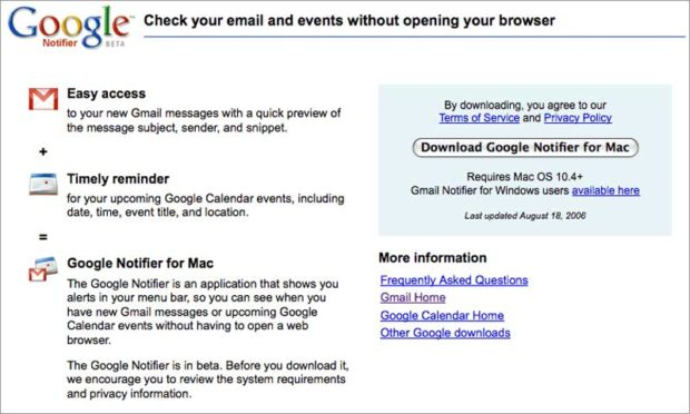 How To Install Google'S Gmail Notifier For Mac - Tutorial - Gmail Notifier Page 1