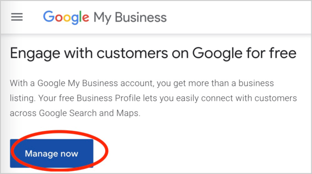 Google My Business Manager Login