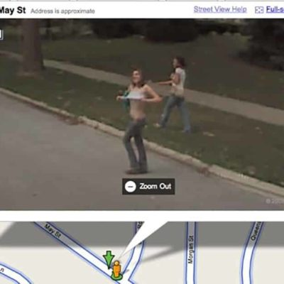 Google Naked - Woman Exposes Her Naked Breasts To The Google Street View Car