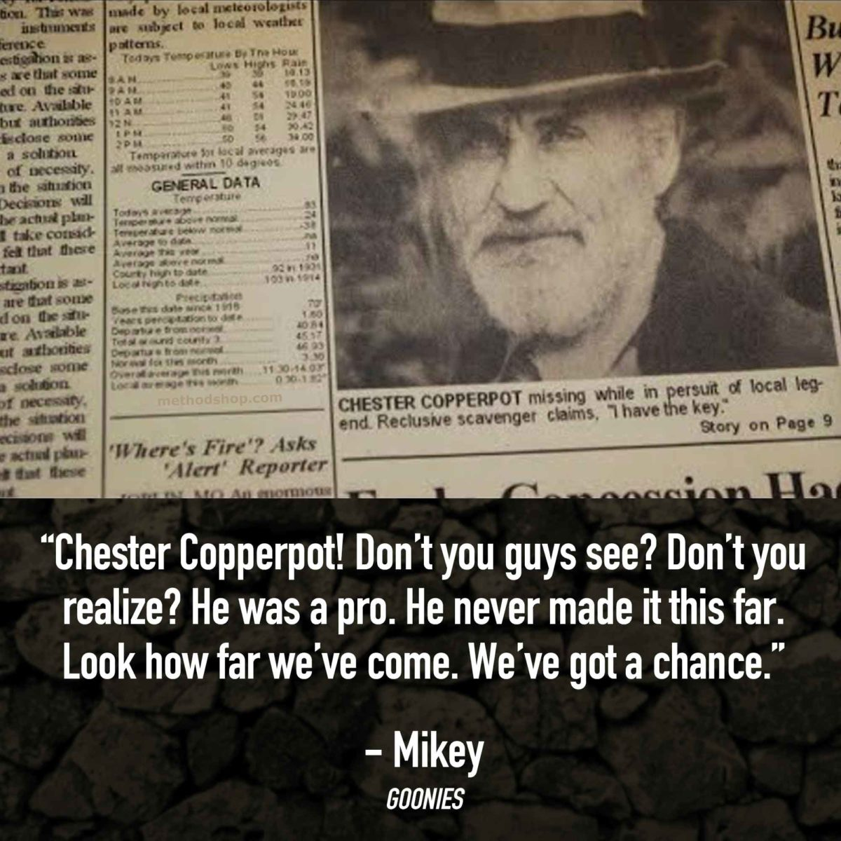 Chester Copperpot - Best Goonies Quotes - Goonies Movie Quotes