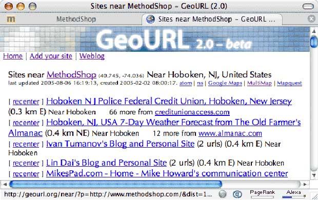 Nearby Websites