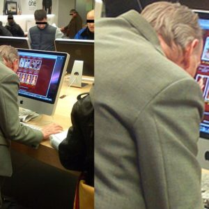 Grandpa Busted Googling Asian Escorts in Apple Store