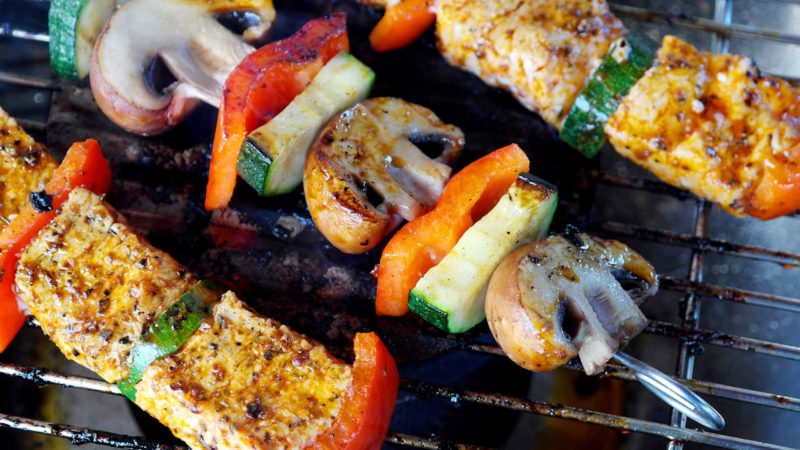 Shish Kabobs On The Grill