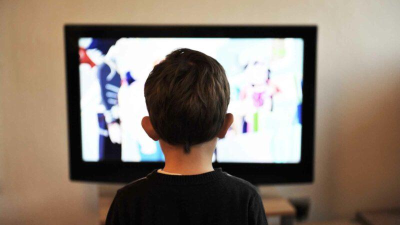Kid Watching HDTV