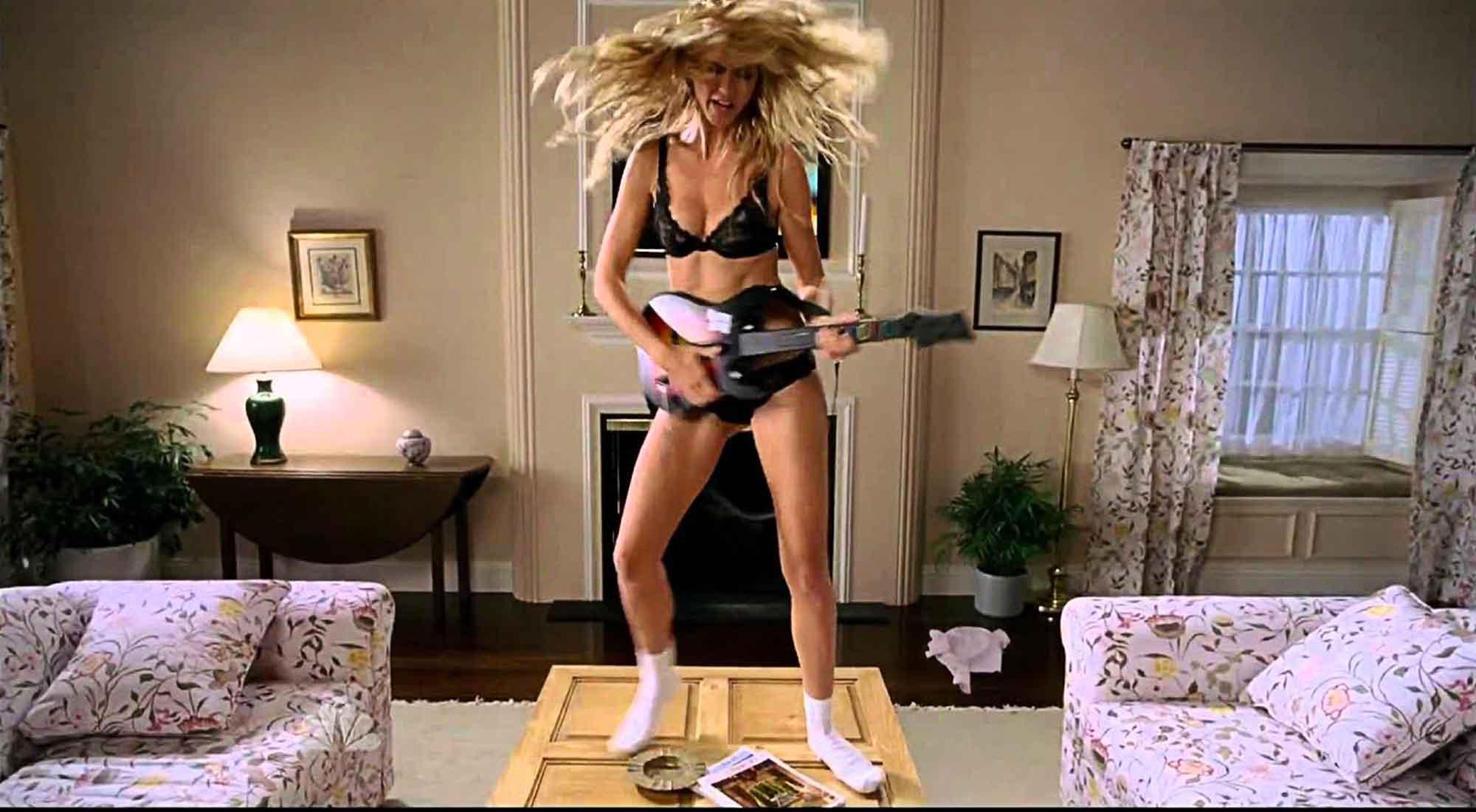 Heidi Klum Strips Down To Her Underwear For Guitar Hero
