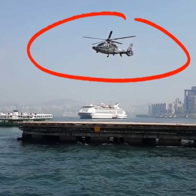 Helicopter Floating Away