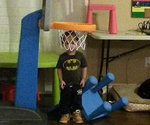 Hide-and-Go-Seek Fail: Basketball Net