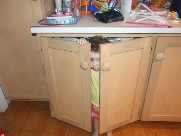 Hide-And-Go-Seek Fail: Bathroom Cabinet