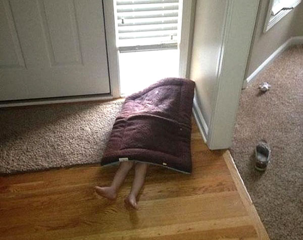 Hide-And-Go-Seek Fail: Floor Mat
