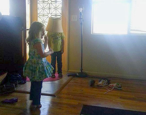 Hide-And-Go-Seek Fail: Lamp Shade