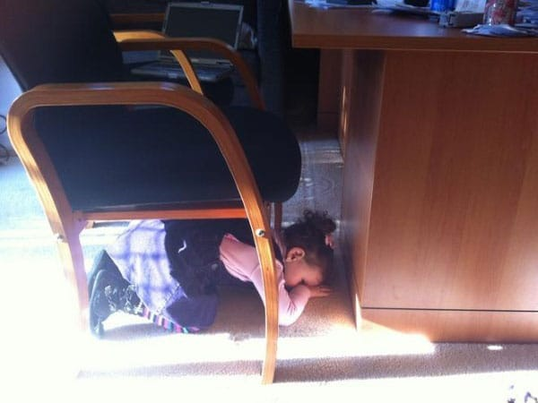Hide-And-Go-Seek Fail: Chair