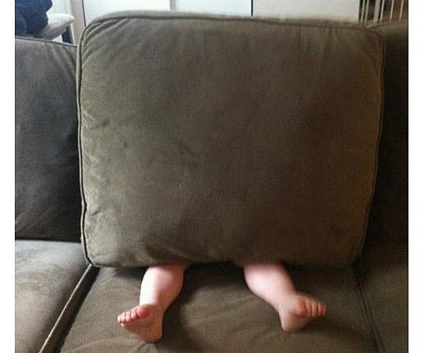 Hide-And-Go-Seek Fail: Couch Cushion