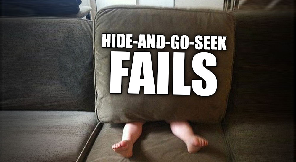 15 Hilarious Hide And Go Seek Fails
