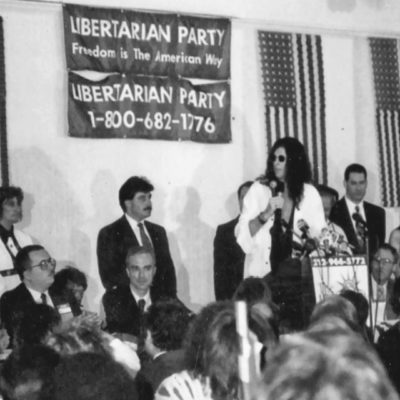 Howard Stern For Governor Of New York Under The Libertarian Party Ticket
