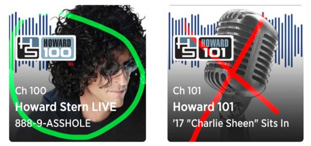 Howard Stern Siriusxm Satellite Radio Channels: Howard 100 &Amp; Howard 101