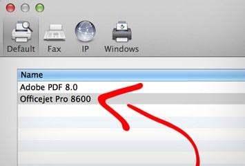 HP Utility Mac Download Tutorial: Select your HP printer