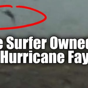 Kite Surfer Owned by Hurricane Fay on Live TV