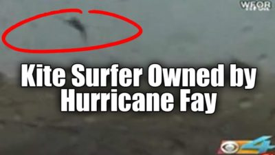 Kite Surfer Owned by Hurricane Fay