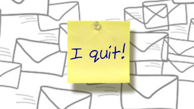 """I Quit"" Note - Funny Out Of Office Messages"