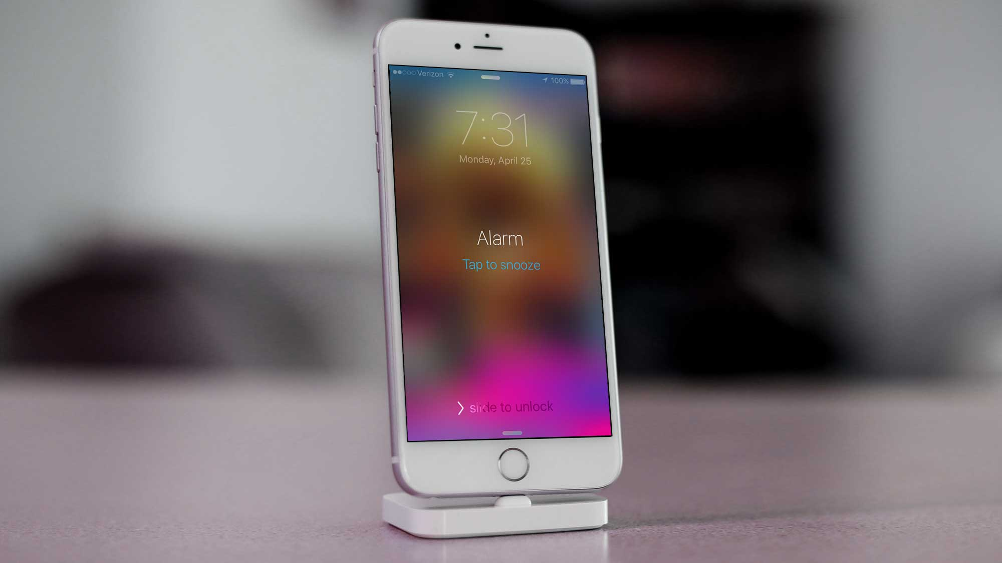 iPhone Alarm - Tap To Snooze