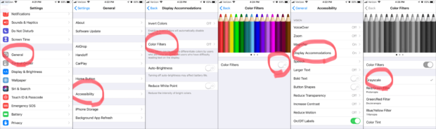 How To Put Your iOS Device Into Grayscale - How To Reduce Screen Time