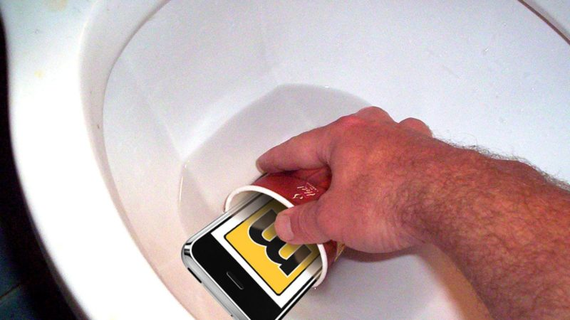iPhone In A Toilet