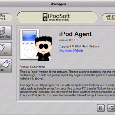 iPod Agent Application for PC