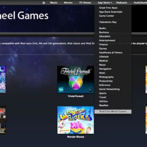 Complete List Of iPod Click Wheel Games