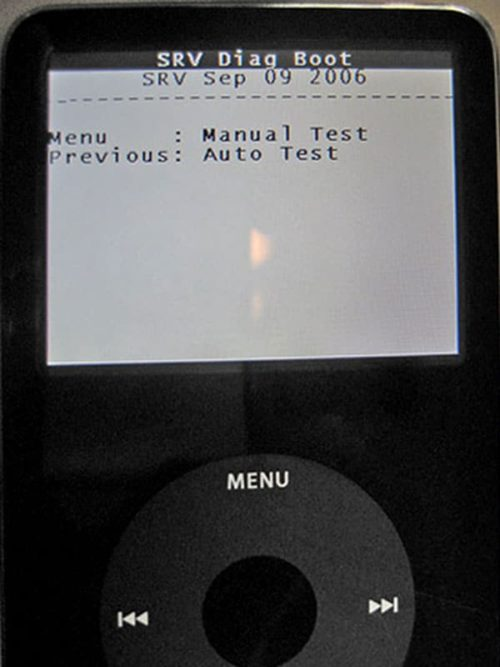 Ipod Diagnostic Mode: Auto Test And Manual Test