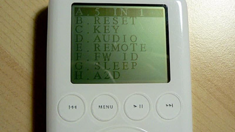 iPod Diagnostic Mode Tests
