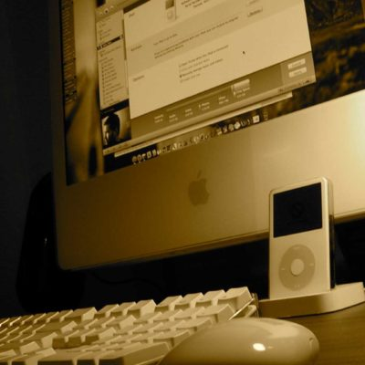 iPod and an iMac