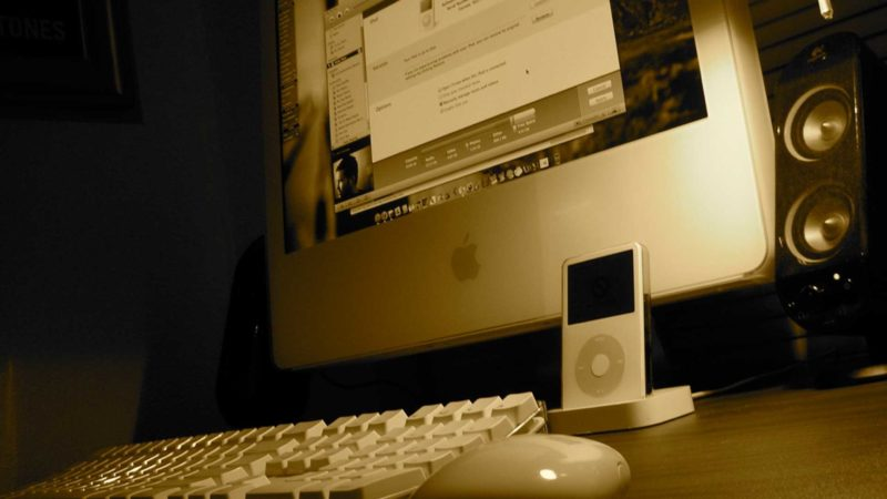 iPod and an iMac