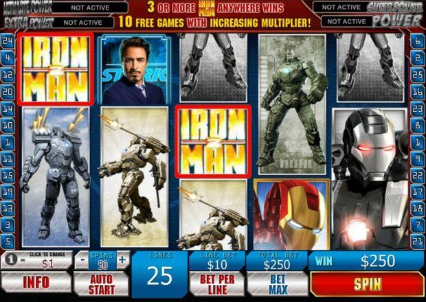 Iron Man 2: Slots