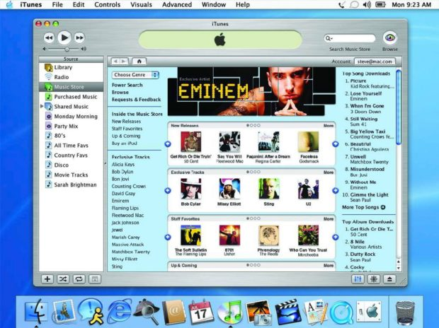 iTunes Music Store Debut (2003)