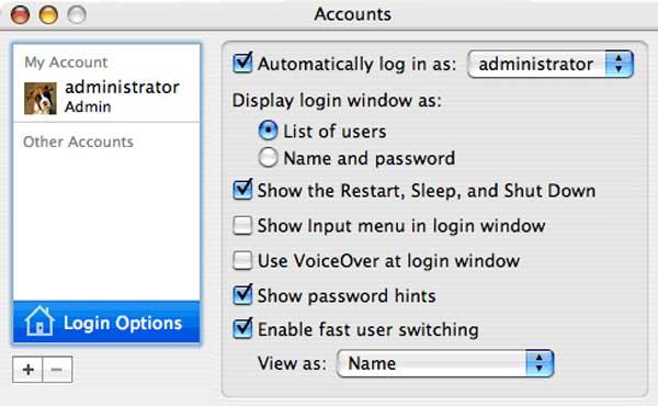Mac User Options