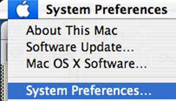 Click on the Apple in the top left of the menu bar and select System Preferences.
