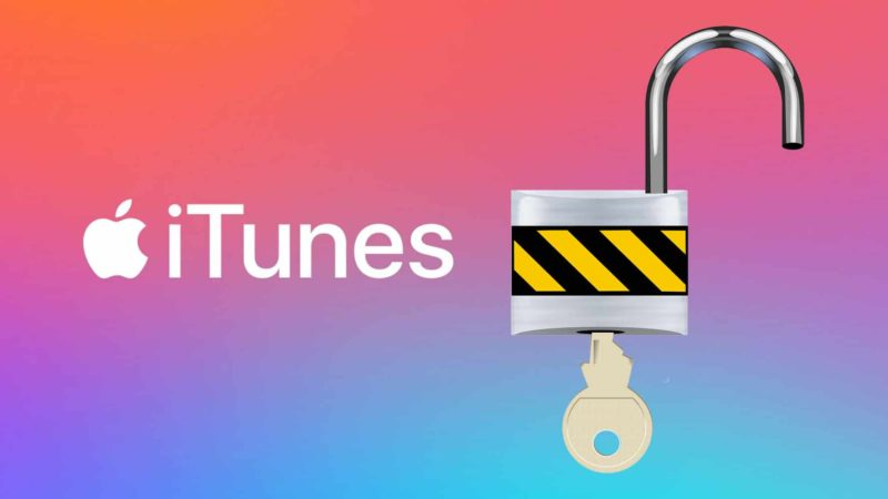 Unlock iTunes