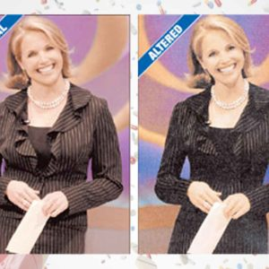 CBS News Criticized For Photoshopping Katie Couric Images (2006)