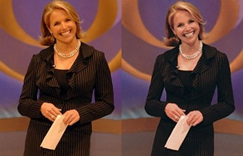 Katie Couric Pphotoshopped