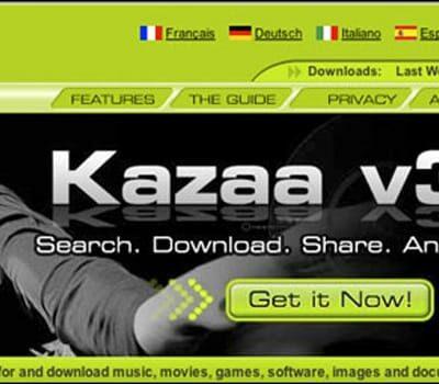Kazaa Homepage