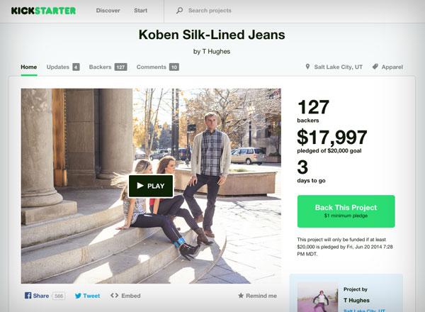 Kickstarter-Screengrab
