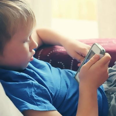 Kid Using a Smartphone