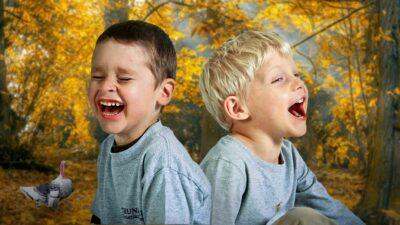 Kids Laughing Smile Fall Thanksgiving