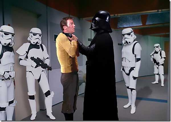 Captain Kirk Gets Choked By Darth Vader - Funny Star Wars Pictures